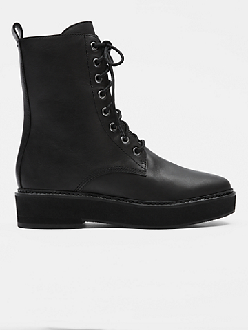 Nellie Leather Lace-Up Bootie