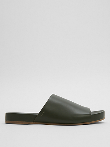 Mask Nappa Leather Slide Sandal
