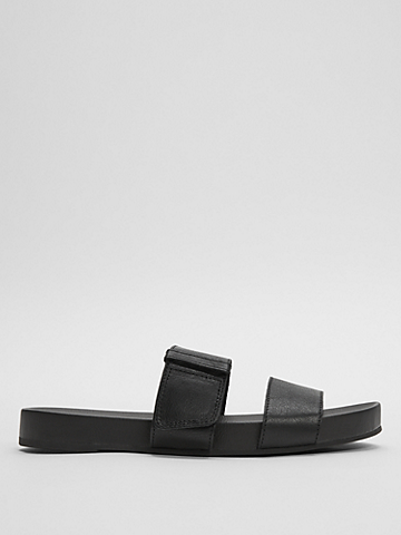 Folk Leather Slide Sandal