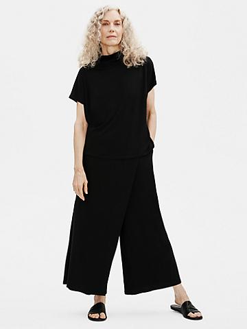 Fine Jersey Wrap Front Pant