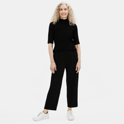 Fine Jersey Pleated Slouchy Pant