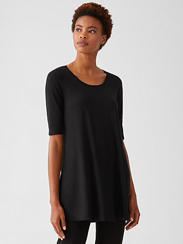 Fine Jersey Scoop Neck Tunic