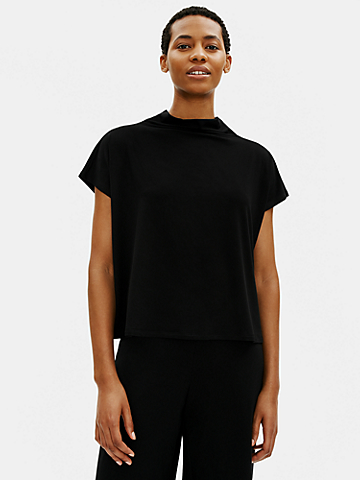 Fine Jersey Funnel Neck Top