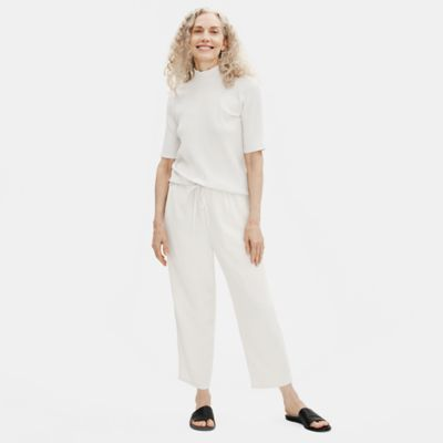 Textured Crepe Slouchy Cropped Pant