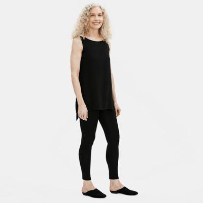Stretch Silk Jersey Ankle Legging