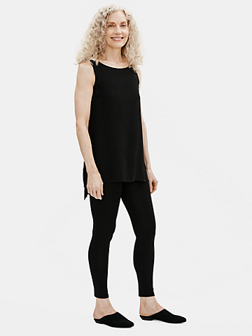 Stretch Silk Jersey Ankle Legging