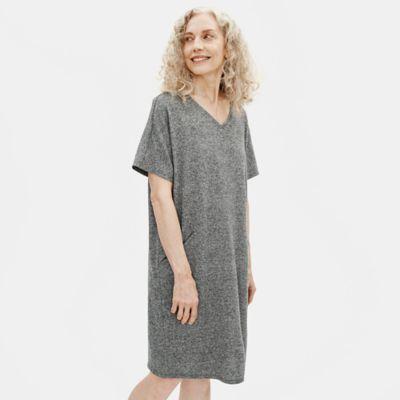 Organic Cotton Hemp Melange V-Neck Dress