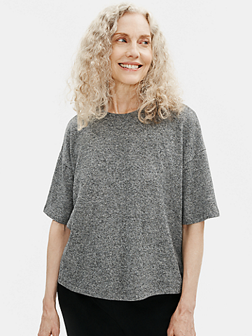Organic Cotton Hemp Melange Crew Neck Top