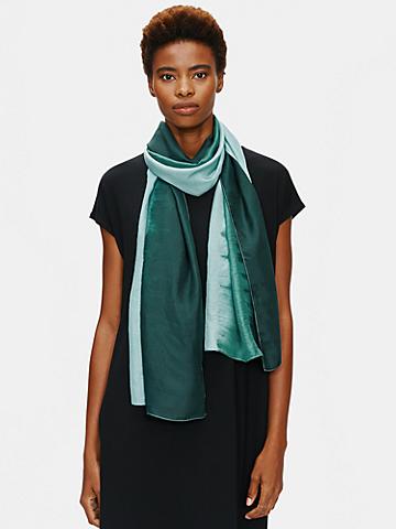 Artisanal Silk Strata Scarf