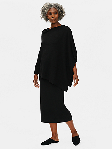 Organic Linen Crepe Stretch Poncho