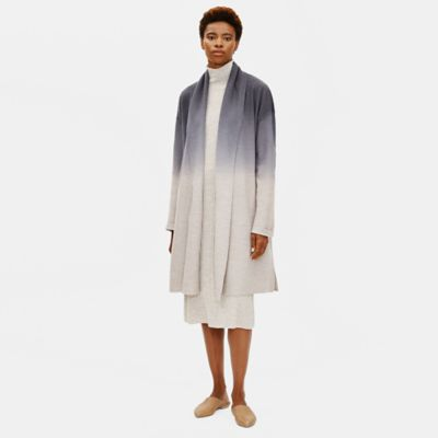 Ombre Boiled Wool Coat in Responsible Wool