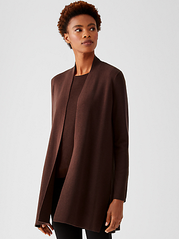 Ultrafine Merino Long Cardigan in Responsible Wool