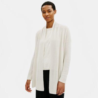 Organic Linen Cotton High Collar Cardigan