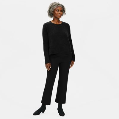 Organic Cotton Twill Flare Cropped Pant