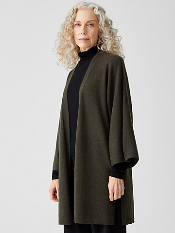 Lofty Recycled Cashmere 3/4-Sleeve Cardigan