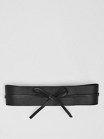 Buttery Leather Obi Belt