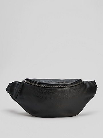 Grainy Italian Leather Belt Bag