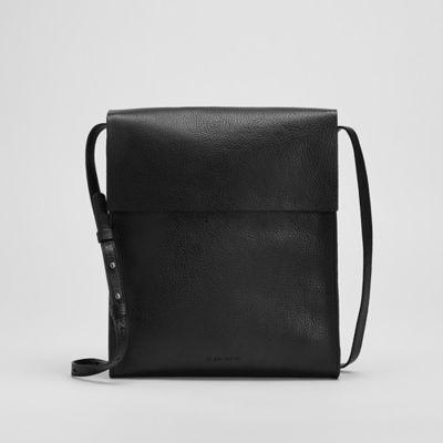 Grainy Italian Leather Crossbody Bag