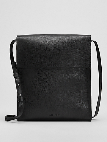 Grainy Italian Leather Crossbody Bag