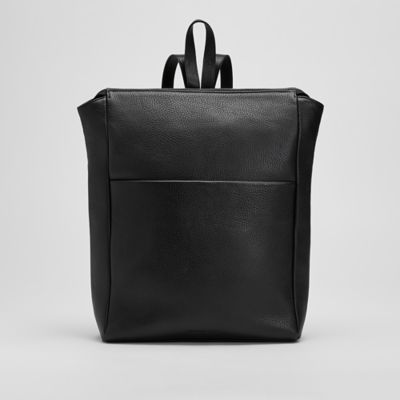 Grainy Italian Leather Backpack