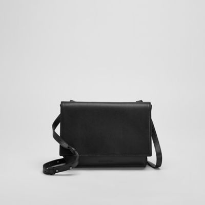 Grainy Italian Leather Small Crossbody Bag