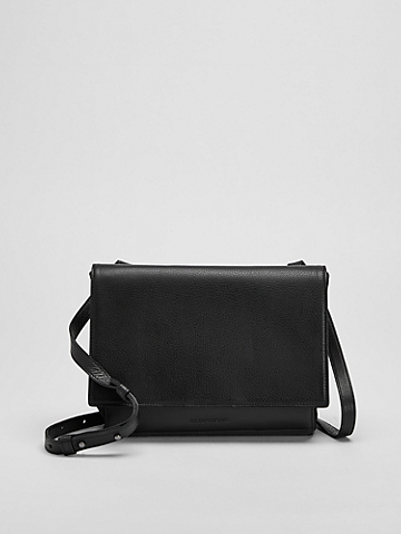 Grainy Italian Leather Small Crossbody Bag