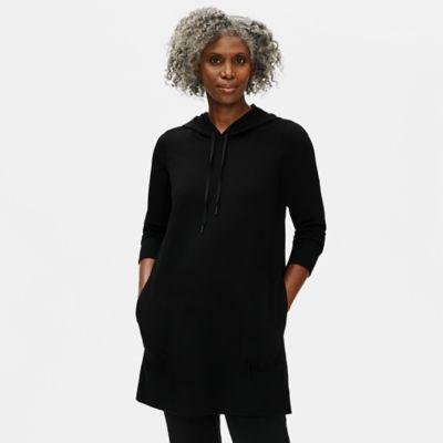 Organic Cotton Stretch Hooded Dress