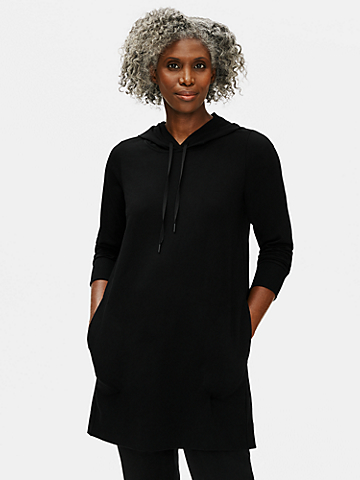 Organic Cotton Stretch Hooded Dress