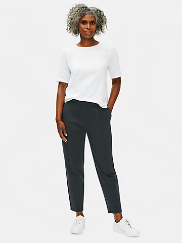 Cotton Stretch Jersey Lantern Pant