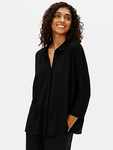 Organic Cotton Easy Jersey 3/4-Sleeve Shirt