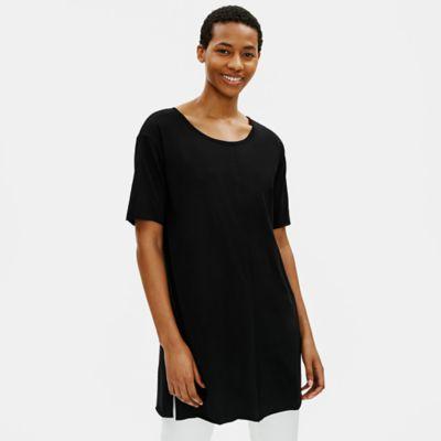 Organic Cotton Easy Jersey Elbow-Sleeve Tunic