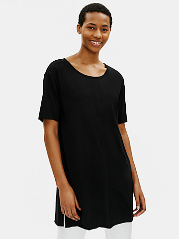 Organic Cotton Easy Jersey Elbow-Sleeve Tunic