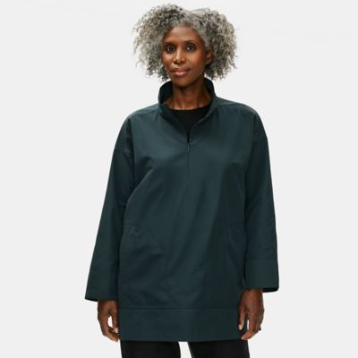 Recycled Polyester Pullover Coat