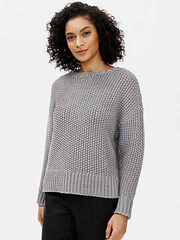 Organic Cotton Cord Crew Neck Box-Top