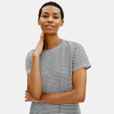 Organic Cotton Jersey Striped Tee Dress