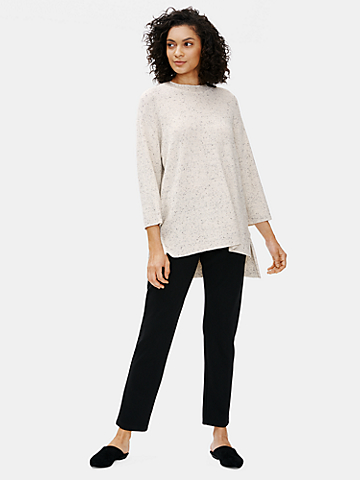 Organic Cotton Speckle Crew Neck Tunic