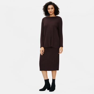 Merino Crew Neck Top in Regenerative Wool