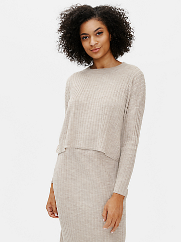 Merino Crew Neck Box-Top in Regenerative Wool