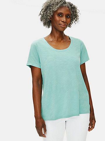 Organic Cotton Slub U-Neck Tee