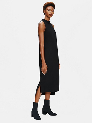 Flex Ponte Mock Neck Dress