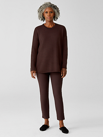 Washable Stretch Crepe Slim Ankle Pant