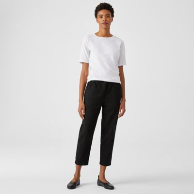 Organic Cotton Twill Tapered Cropped Pant
