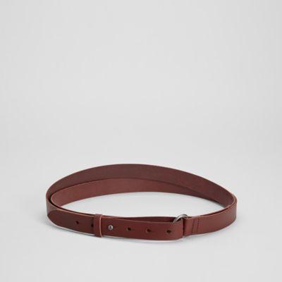 Vegetable Tanned Italian Leather Wrap Belt