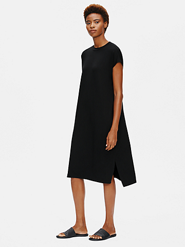 Viscose Jersey Crew Neck Dress