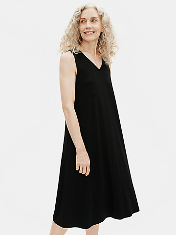 Viscose Jersey V-Neck Flare Dress