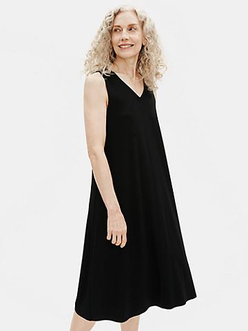 Viscose Jersey V-Neck Flare Dress