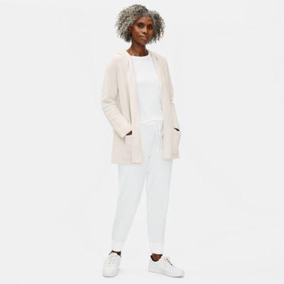 Organic Cotton Linen Slub Hooded Cardigan