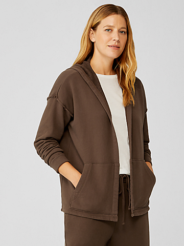 Organic Cotton French Terry Hooded Jacket
