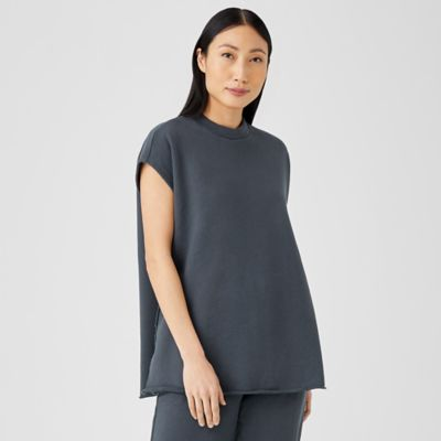 Organic Cotton French Terry Crew Neck Top
