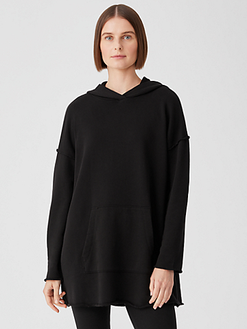 French Terry Hooded Long Top